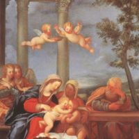 Albani Francesco Sacra Famiglia The Holy Family