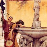 Alma-tadema Between Venus And Bacchus