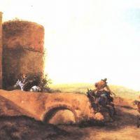 Aselyn Jan Horsemen Galloping Toward The Gate Of A Castle