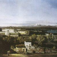 Belloto Bernardo Vedute Mit Der Villa Melzi D Eril
