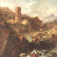 Berchem Nicolas Paysage Avec Une Tour