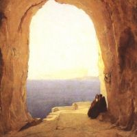 Blechen Karl Monks At The Gulf Of Naples