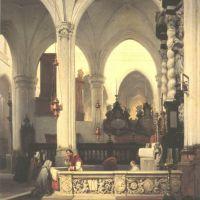 Bosboom Johanness Interior View Of The St Jacobs Kerk In Antwerp