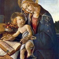 Botticelli Madonna With The Book