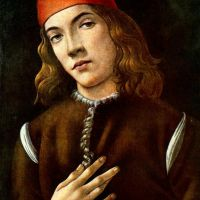 Botticelli Portrait Of A Young Man 1483