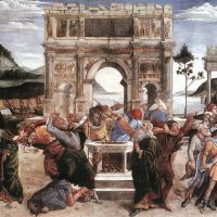 Botticelli The Punishment Of Korah