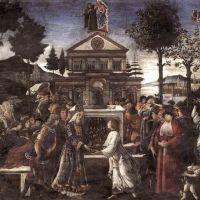 Botticelli The Temptation Of Christ