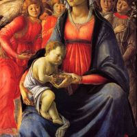 Botticelli The Virgin With The Child And Five Angels