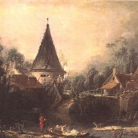Boucher Francois Landscape Near Beauvais