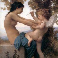 Bouguereau Jeune Fille Se Defendant Contre Amour
