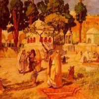 Bridgman Arab Women At The Town Wall