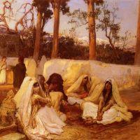 Bridgman Women At The Cemetery Algiers