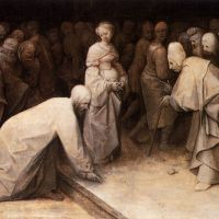 Bruegel Christ And The Woman Taken In Adultery