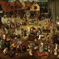 Bruegel The Fight Between Carnival And Lent