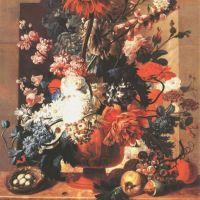 Brussel Paulus Theodorus Van Flowers And Fruit