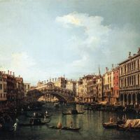 Canaletto Rialto Bridge From The South