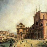 Canaletto Santi Giovanni E Paolo And The Scuola De San Marco