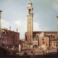 Canaletto View Of Campo Santi Apostoli