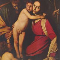 Caravaggio Holy Family With St. John The Baptist