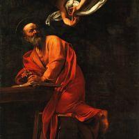 Caravaggio Inspiration Of Saint Matthew