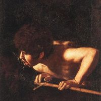 Caravaggio John The Baptist - 1608