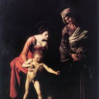 Caravaggio Madonna And Child With St. Anne
