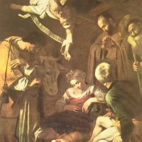 Caravaggio Nativity With St. Francis And St. Lawrence