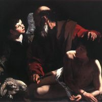 Caravaggio Sacrifice Of Isaac - 1598