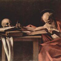 Caravaggio Saint Jerome Writing - 1605