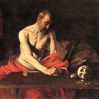 Caravaggio Saint Jerome Writing - 1607