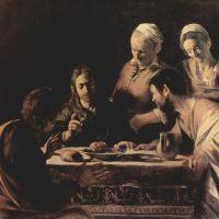 Caravaggio Supper At Emmaus - 1606