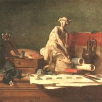 Chardin Still Life With Attributes Of The Arts