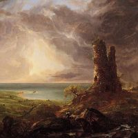 Cole Romantic Landscape With Ruined Tower