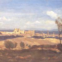 Corot Avignon Vue Prise De Villeneuve Les Avignon