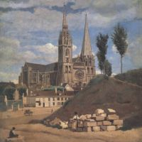 Corot Cathedrale De Chartres