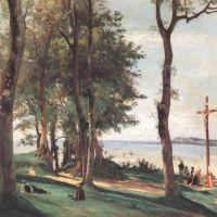 Corot Honfleur Calvaire De La Cote De Grace
