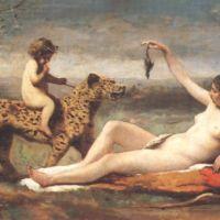 Corot La Bacchante A La Panthere