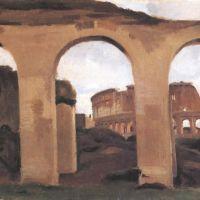 Corot Le Colisee Vue A Travers De La Basilique Constantin