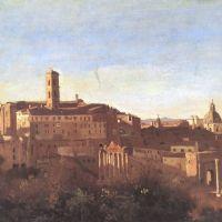 Corot Le Forum Vu Des Jardins Farnese