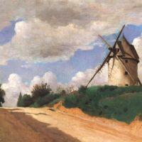 Corot Le Moulin A Vent Sur La Cote De Pircardie