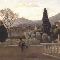 Corot Tivoli Les Jardins De La Villa D Este