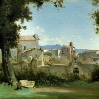 Corot Vue Des Jardins Farnese - Rome