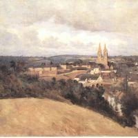 Corot Vue Generale De La Ville De Saint Lo