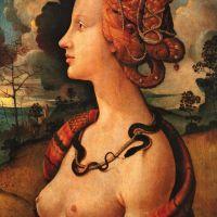 Cosimo Portrait Of Simonetta Vespucci Circa 1480