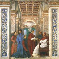 Da Forli Melozzo Sixstus Iv His Nephews And His Librarian Palatina