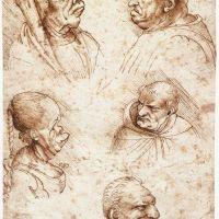Da Vinci Five Caricature Heads