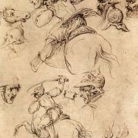 Da Vinci Study Of Battles On Horseback