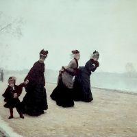 De Nittis Guiseppe The Promenade