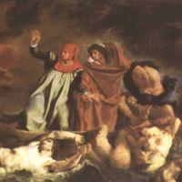 Delacroix Eugene The Bark Of Dante Dante And Virgil In Hell