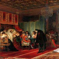 Delaroche Cardinal Mazarin Dying 1830